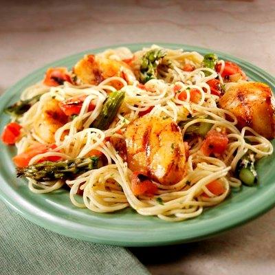 Spicy Cajun Scallops and Pasta Recipe