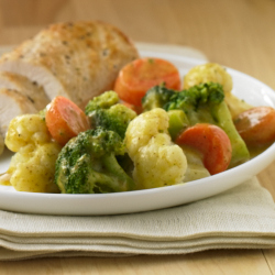 Vegetable Medley with Honey Mustard Sauce