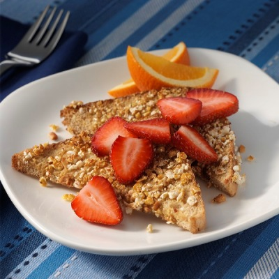Caramelized French Toast with Fresh Strawberries Recipe
