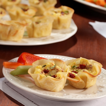 Sun-Dried Tomato and Goat Cheese Tartlets