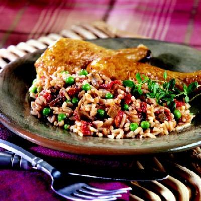 Chicken with Mushroom Rice Pilaf Recipe