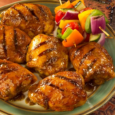 Barbecued Chicken Thighs Recipe
