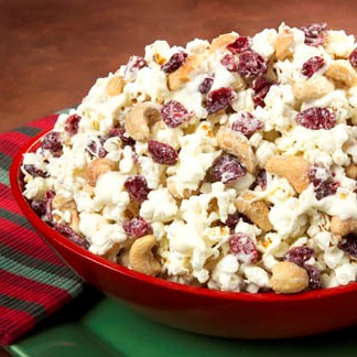 Snow-Capped Cranberry Cashew Popcorn Recipe