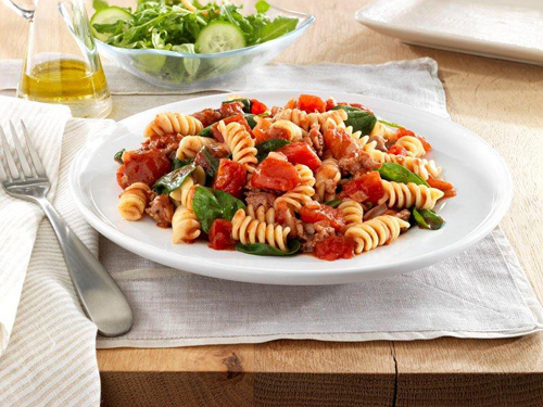Pasta with Spinach and Sausage Recipe