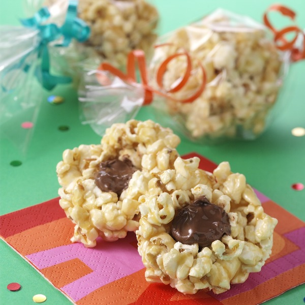 Caramel 'Surprise' Popcorn Balls Recipe