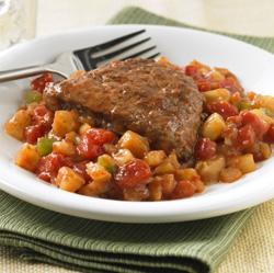 Saucy Steak and Potatoes