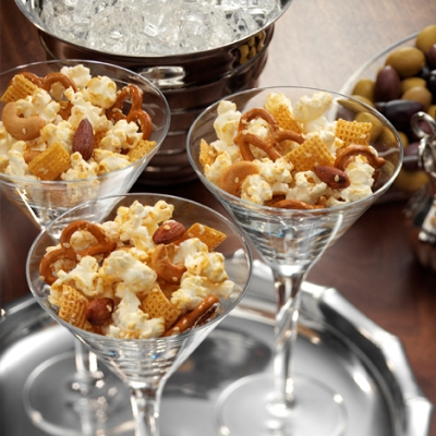 Honey-Sesame Popcorn Snack Mix Recipe