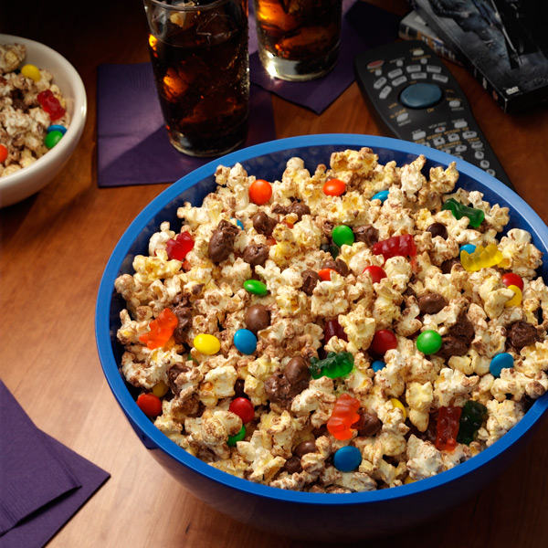 Image result for popcorn with candy