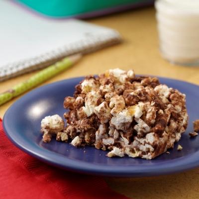 S'Mores Popcorn Squares Recipe