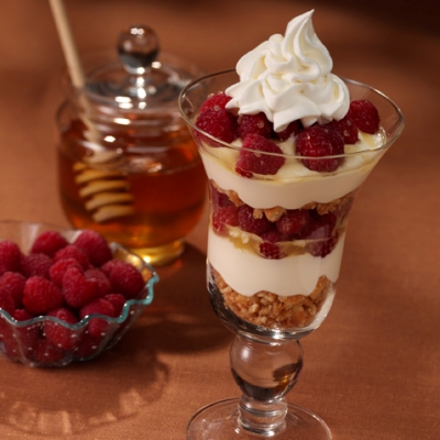 Honey-Raspberry Parfait Recipe