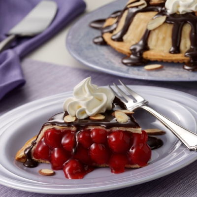 Upside-Down Black Forest Pie