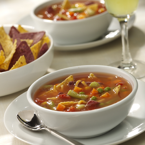 Vegetable-Tortilla Soup - Recipe | ReadySetEat