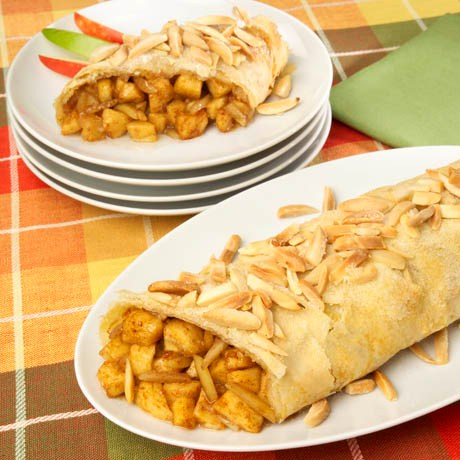 Almond-Apple Strudel