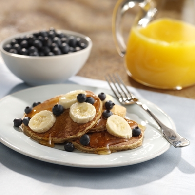 Whole Grain Pancakes with Fresh Fruit Recipe