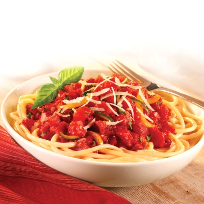 Chunky Tomato Sauce with Bucatini Pasta - Recipe | ReadySetEat