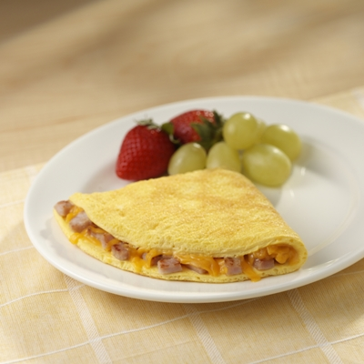 Canadian Bacon and Cheddar Cheese Omelet