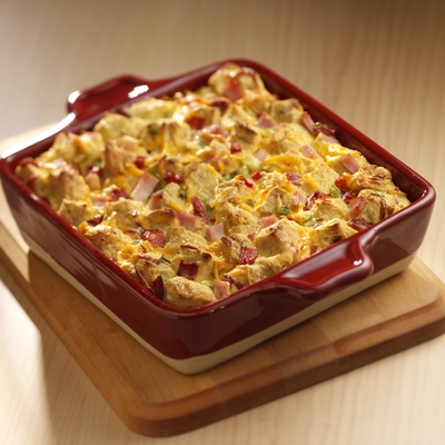 Canadian Bacon and Rye Strata
