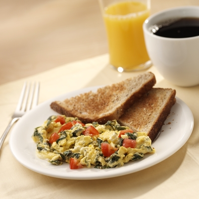 Spinach and Feta Cheese Scramble