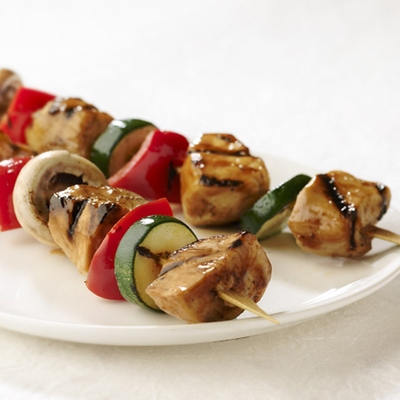 Asian Seasoned Chicken Kabobs
