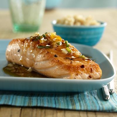 Mandarin-Glazed Salmon