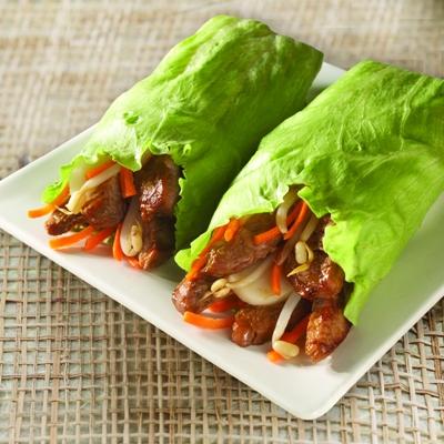 Teriyaki Pork Lettuce Wraps