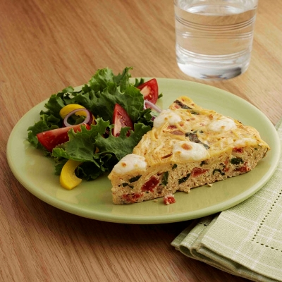 Tomato and Mozzarella Frittata Recipe