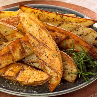 Seasoned Grilled Potato Wedges