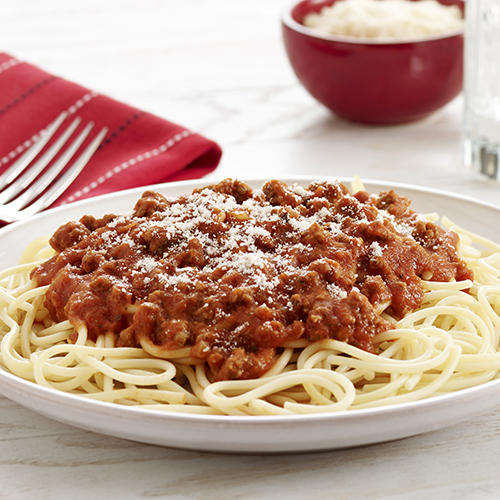 Spaghetti and Meat Sauce - Recipe | ReadySetEat