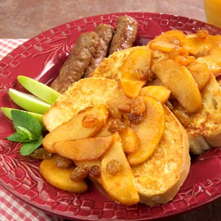 French Toast with Sauteed Cinnamon Apples Recipe