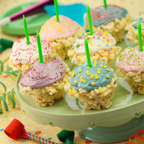 Popcorn Birthday 'Cupcakes' Recipe