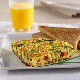 Spinach-Tomato Frittata Recipe