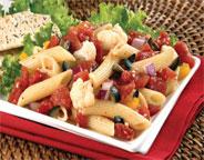 Penne Pasta Salad With Tomato Vinaigrette