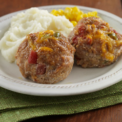Mini Tex-Mex Turkey Meatloaves