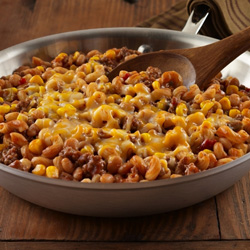 Chuckwagon Beef and Bean Skillet