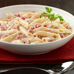 Penne Alfredo with Tomatoes  Recipe