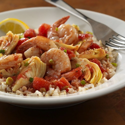Shrimp with Artichokes and Tomatoes