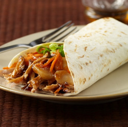 Asian-Style Shredded Pork Wraps
