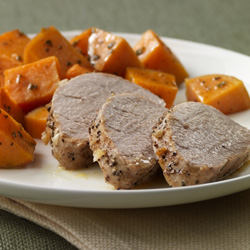 Pork Tenderloin with Roasted Sweet Potatoes  