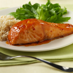 Sweet Orange-Glazed Salmon