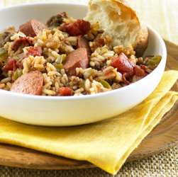 Smoky Beef and Rice Skillet