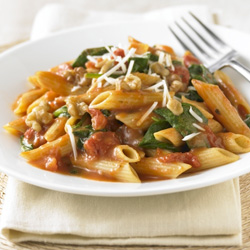 Spinach Walnut Penne