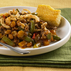 Barbecue Beef and Beans Casserole Recipe