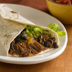 Southwest Beef and Bean Burritos