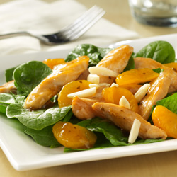 Orange-Ginger Spinach Salad with Chicken