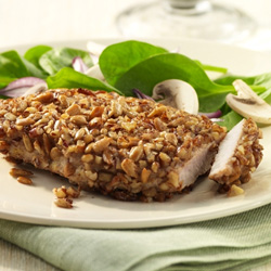 Pecan-Crusted Pork Chops for Two
