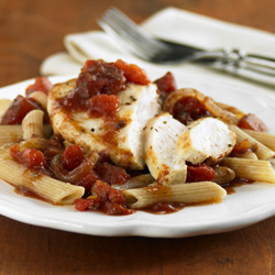 Chicken with Balsamic Tomatoes for Two