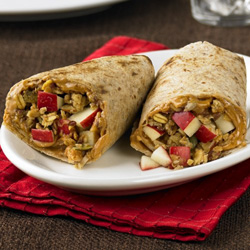 Peanut Butter-Apple Wraps for Two