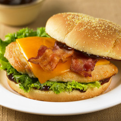 BBQ Bacon Chicken Sandwiches for Two