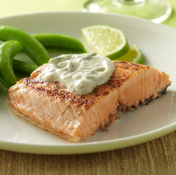 Salmon with Creamy Lime Sauce for Two  
