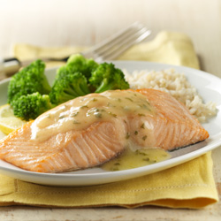 Baked Salmon with Lemon Sauce for Two